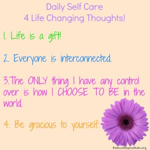 4 Self Care Thoughts